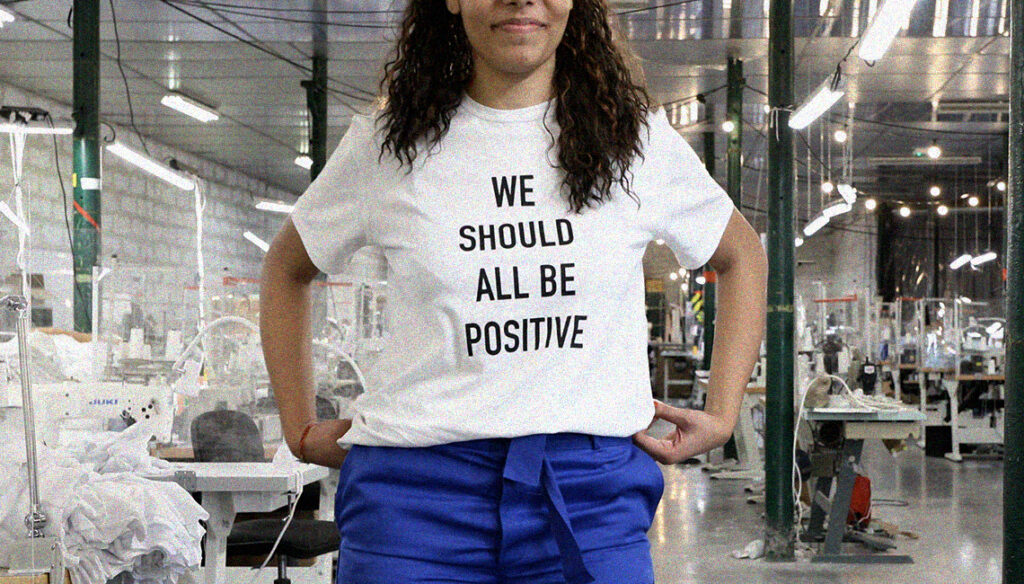 T-shirt engagé WE SHOULD ALL BE POSITIVE